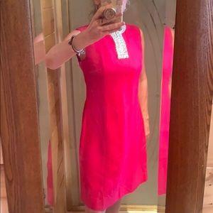 1960s-70s hot pink vintage dress
